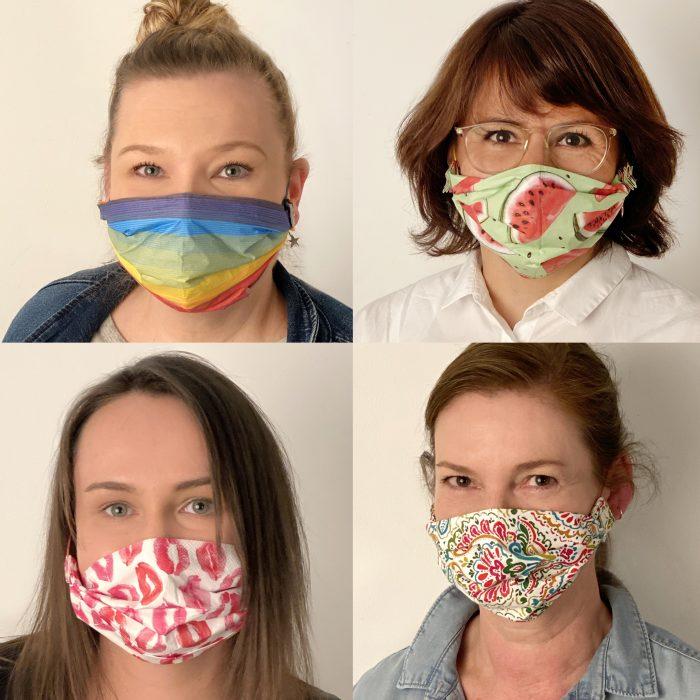 Behelfs-Community Maske aus Servietten